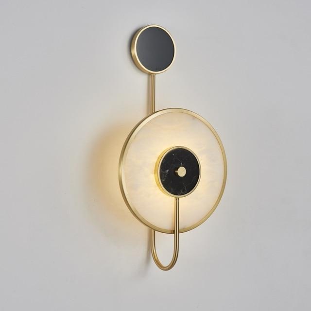 Фото декоративный мраморный настенный светильник tiooka в китайском цена