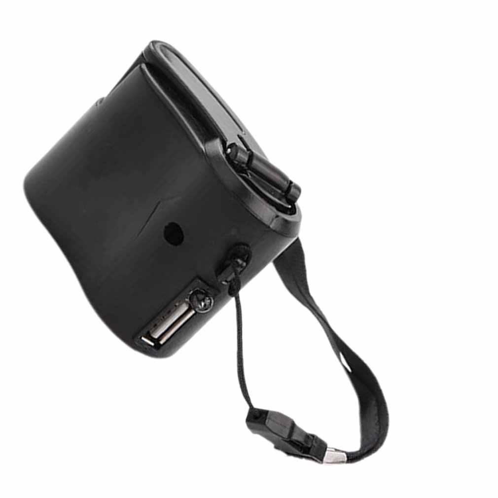 الهاتف المحمول في حالات الطوارئ الطاقة USB كرنك اليد شاحن مولد كهربائي العالمي المحمول تهمة اليد دينامو الشحن