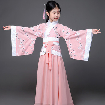 New Children's Costumes Tang costume Girls Costumes Performances Ancient Princess Guzheng Hanfu Clothing Stage Performance