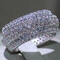 Классические роскошные ювелирные изделия бренда Marquise Cut, красивая картина из циркония, обручальное кольцо с фианитом