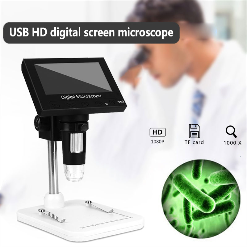 1000x USB Real-Time Video Computers Electron Microscope Digital Portable Photos Monitoring Screen