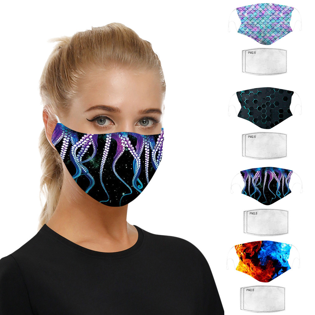 Reusable Mouth Mask Washable Filter Face Mask PM2.5 Fashionable Anti-Dust Face Mask Windproof Mouth Mask With Mask Gasket