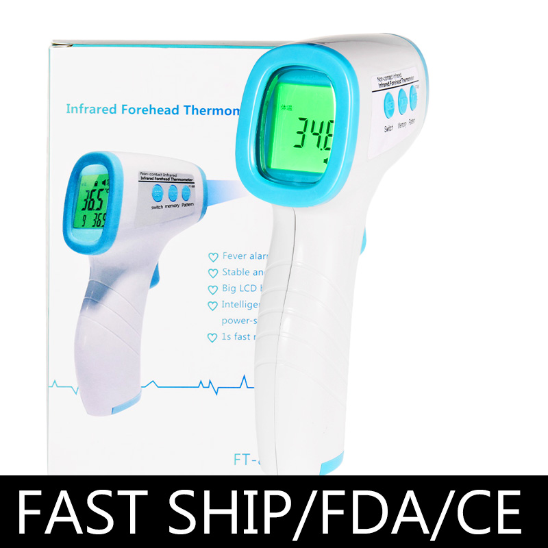 1pc Muti-fuction Baby Adult Digital Termomete Infrared Forehead Body Thermometer Gun Non-contact Temperature Measurement Device