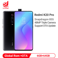 Global Rom Xiaomi Redmi K20 PRO 6GB 64GB Snapdragon 855 48MP Rear Camera Pop up Front Camera 4000mAh In Screen Recognition