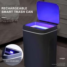 Can Dustbin Smart-Trash-Can Automatic-Sensor Electric Intelligent-Sensor 16L Waste-Bin