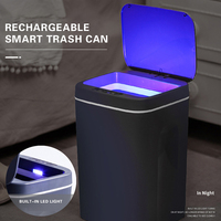 16L USB Charging Smart Trash Can Automatic Sensor Dustbin Intelligent Sensor Rechargeable Electric Waste Bin Rubbish Can