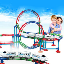 RC Electric Train Christmas Train Toys Model Railway Set Remote Control Train Toy Electric Christmas Trains For Children Gifts(China)