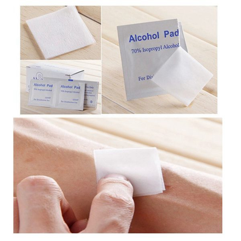 300 Pcs Anti Phlogosis Isopropyl Alcohol Swab Pads Piece Wipe Antiseptic Skin Cleansing Care First Aid