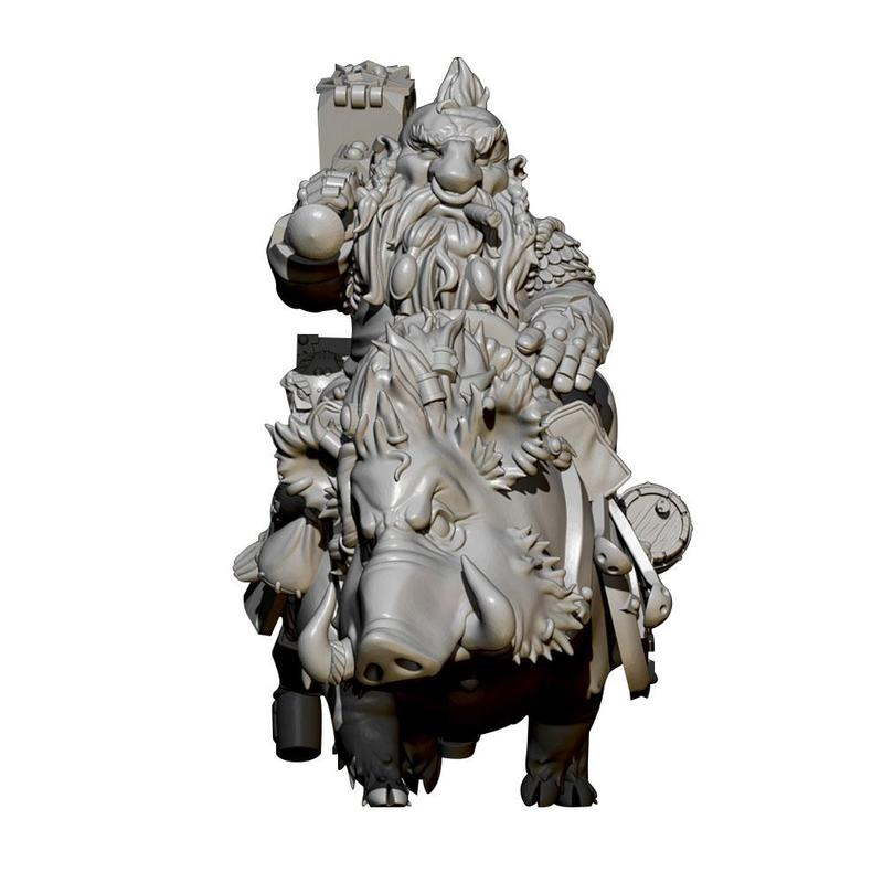 55mm Self-assembled Dwarf Pig General Resin Soldier White Model Toy Resin Figure Kits Unassembly Resin Soldier Model Ornament