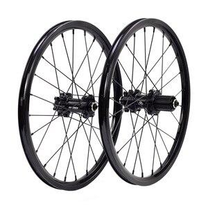 "Image 1 - Silverock alaşım jantlar 16 ""1 3/8"" 349 disk fren 24H Fnhon misafir katlanır bisiklet özel bisiklet tekerlek bisiklet parçaları"