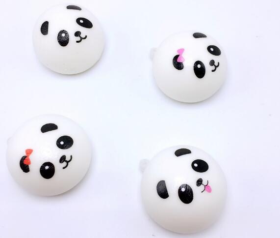 7CM Squishy Panda Bun Stress Reliever Ball Slow Rising Decompression Toys PU Key chains Keychain Kids Toys 2