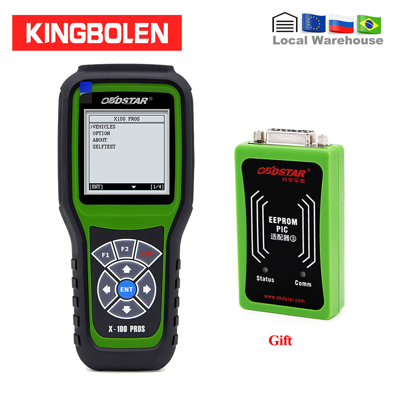 OBDStar X100 PROS C+D+E Model OBD2 Diagnostic Tool X-100 PROS Auto Key Programmer Odometer Correction EEPROM Adapter IMMOBILISER