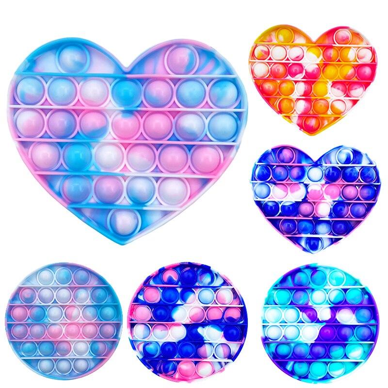 Пуш-ап пузырь сенсорная Непоседа Ящик для игрушек мягкие Figet игрушки для снятия стресса для взрослых и детей, антистрессовые Reliver Po