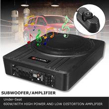 Kroak 10 дюймов 600 Вт автомобильный сабвуфер аудио тонкий под
