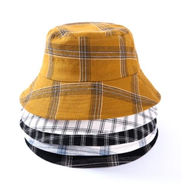OUNIAN007 Летняя женская повседневная хлопковая клетчатая шляпа с принтом, большая шляпа с широкими полями, Панама, кепка gorros, шляпа от солнца, Рыбацкая Кепка|Мужская панама|   | АлиЭкспресс - Трендовые вещи из сериала «Эмили в Париже»
