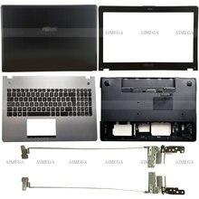 Новый ЖК-чехол для ноутбука/Передняя панель/петли/Подставка для рук/нижний чехол для ASUS N56 N56V VM VZ VB VJ VV N56SL N56DP DY N56JK JN JR