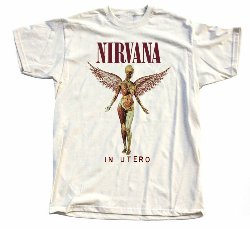 Nirvana - In Utero Natur T-Shirt 100% Cotton Kurt Cobain