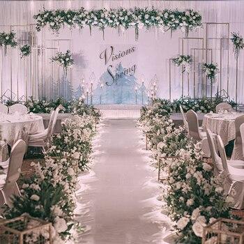 Wedding Aisle Rugs Indoor Outdoor Party Festival White Wedding Carpet Red Wedding Decoration Exhibition Events Corridor Carpet
