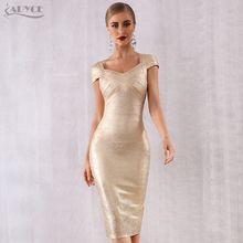 ADYCE جديد الصيف ضمادة اللباس النساء Vestidos فيرانو 2020 مثير V الرقبة قبالة الكتف المشاهير حزب اللباس مثير نادي Bodycon اللباس
