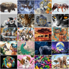 HUACAN Oil Painting By Numbers Animals For Adults Paints By Number Tiger Canvas Painting Kits Home Decoration DIY Gift