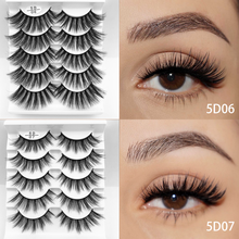 5 Pairs 5D 22mm Faux Mink Lashes Extension Thick Long Handmade Multilayer Soft Vegan Makeup Tools Resuable False Eyelashes Set