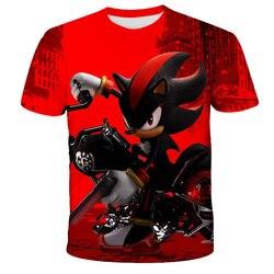 3D Print Sonic moda dziecięca fajne szorty rękaw Sonic jeż t shirt śmieszny T-shirt chłopcy koszulka kreskówka dzieci Casual topy