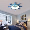 Современные светодиодные потолочные лампы для гостиной  спальни  детской комнаты  мультяшная Синяя светодиодная потолочная лампа для маль...