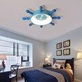 Современные светодиодные потолочные светильники для гостиной, спальни, детей, детской комнаты, мультфильм, синий светодиодный потолочный с...