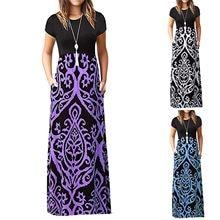 40 # vestidos vintage feminino casual plus size gótico geométrico impressão vestido de verão sem mangas longo vestidos longos de verao