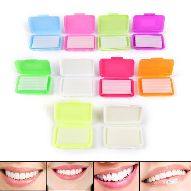 1Box Orthodontic Wax For Braces gum irritation Dental Oral Care Orthodontic Ortho Wax Mint Apple Orange Strawberry Grape Random