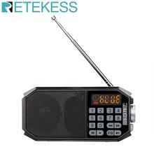 Retekess TR610 Bluetooth FM רדיו עם אוזניות תומכת T flash (TF) כרטיס כדי לקרוא מוסיקה מu דיסק תומך הקלטה