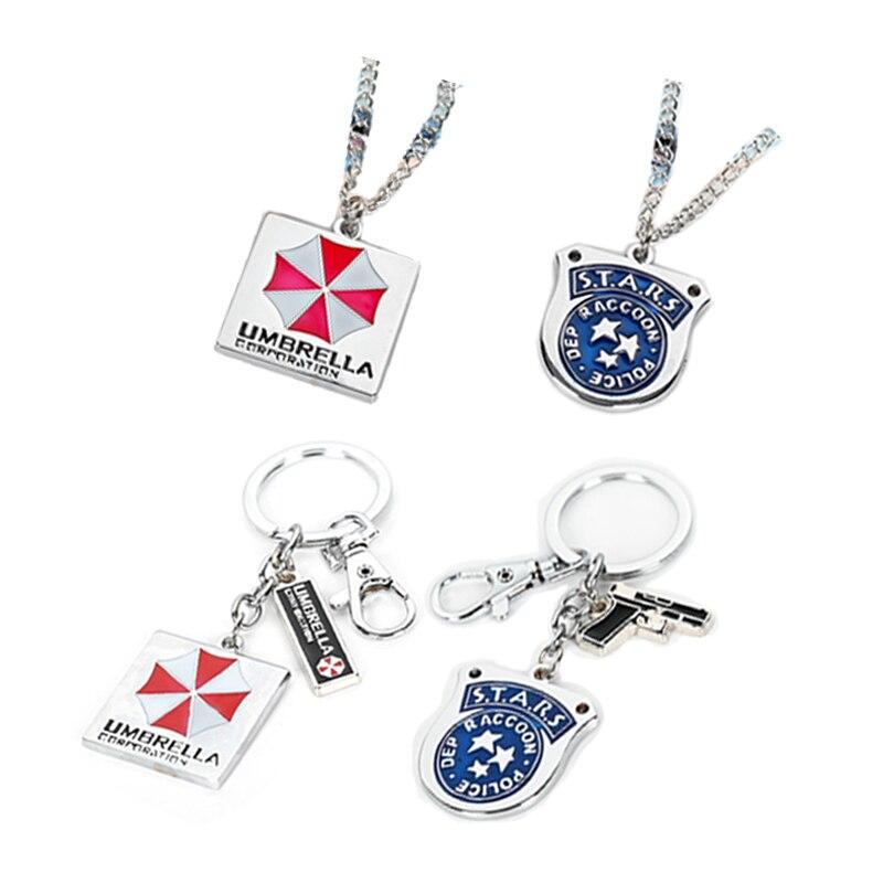 Residents Evils Key Chain Umbrella Corporation Symbol брелок Key Ring Wholesale Trendy Keyring llavero Car Keychain Accessories