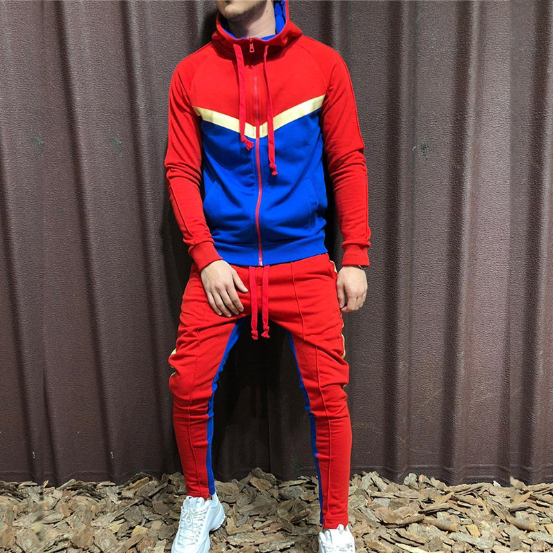 Two Piece Mens Tracksuits 2019 Set Sportswear Casual Winter Warm Hooded Tracksuit Men Trendy Jogger Trousers Male Brand