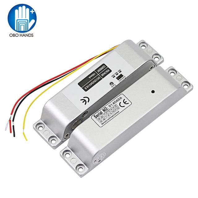 DC12V Fail Safe Nc Elektrische Drop Bolt Lock Toegangscontrole Elektronische Mortise Deursloten Met Vertraging Voor Gate Entry systeem