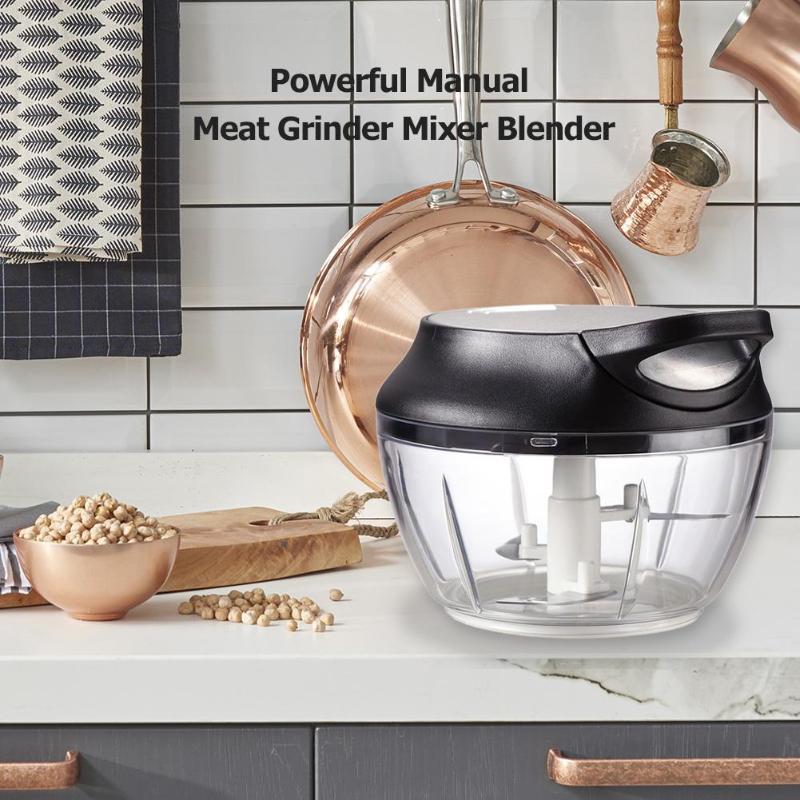 Manual Meat Grinder Mixer Blender Chop Fruit Vegetable Nut Herbs Kitchen Tool for Making Western style Fruit and Vegetable Salad|Manual Meat Grinders| |  - title=