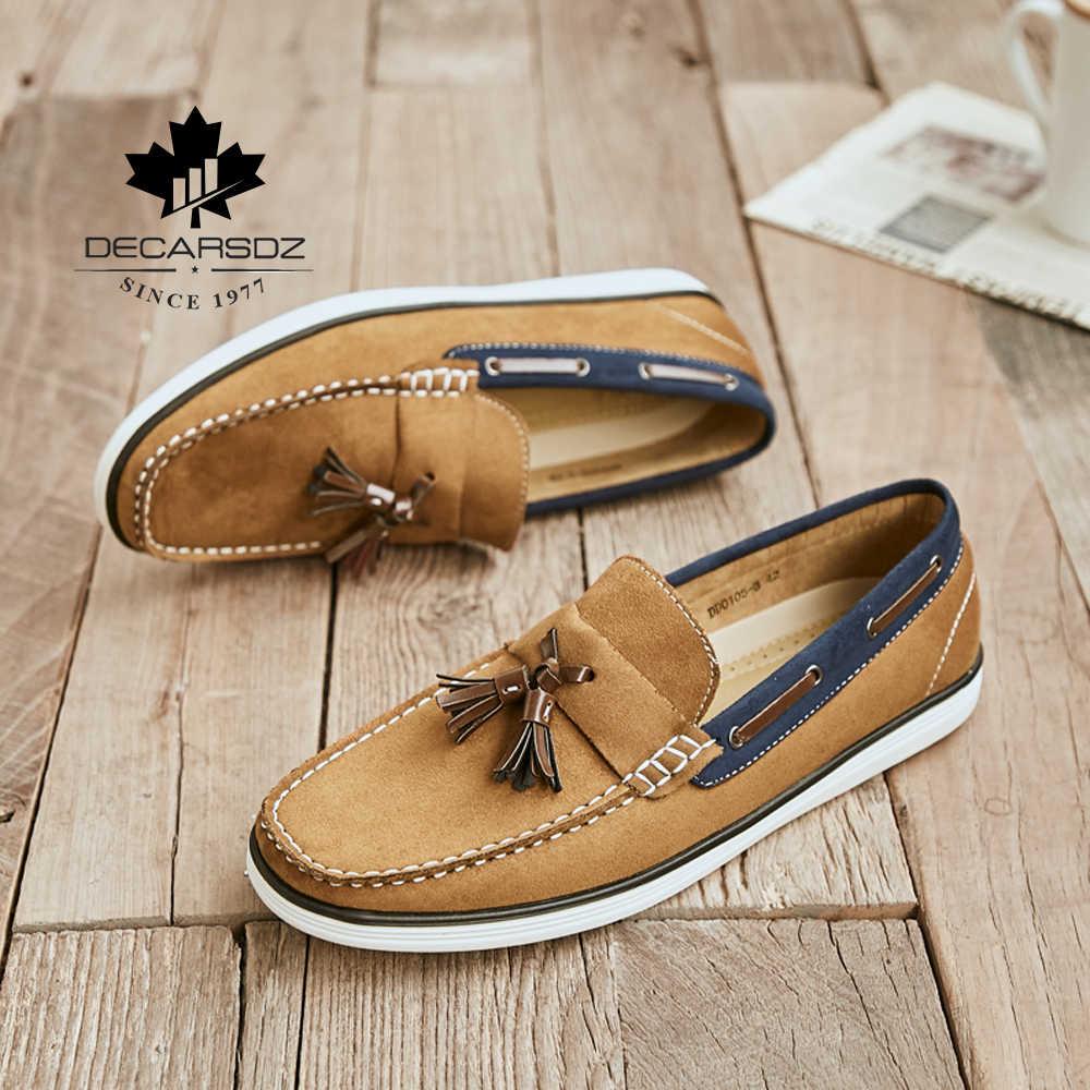 Erkekler loafer ayakkabılar 2020 yeni gündelik erkek ayakkabısı erkekler moda mokasen tekne ayakkabı erkek marka rahat Slip-On eğlence erkek ayakkabıları
