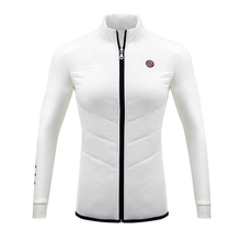 PGM Winter Women Golf Windbreaker Keep Warm Slim Golf Jacket Golf Apparel Ladies Thicken Cotton Down Trench Coat