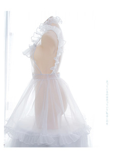 Image 2 - Bella Organza Bolla Trasparente Vestito Complessivo Della Bretella del Vestito Lolita Nake Grembiule Sexy del Vestito Della Biancheria Della Bamboletta del Costume
