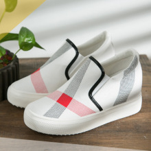 DDI 2020 spring new women's shoes with high breathable checked canvas