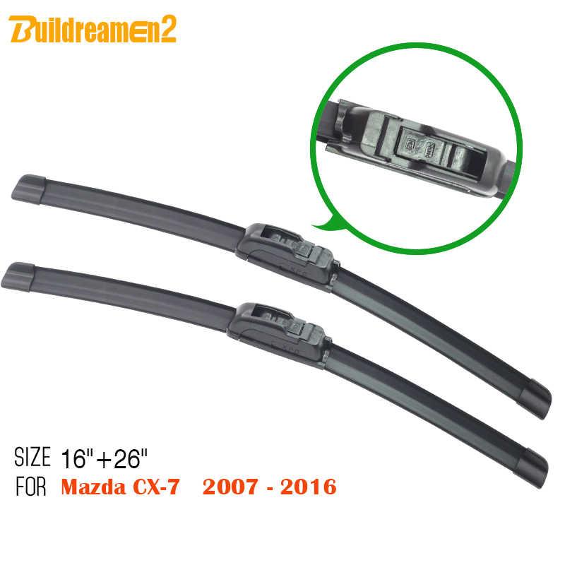 Buildreamen2 Top Chất!!! Dành Cho Xe Mazda CX7 CX-7 2007-2016 SUV Kính Chắn Gió Không Khung Kính Chắn Gió Cao Su Lót Mút Mềm Tự Động Tay Lau Xe