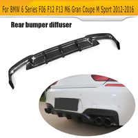 Carbon Fiber for M6 Rear Bumper Lip Diffuser for BMW 6 Series F06 F12 F13 M Sport M6 2012 - 2016 Convertible 640i 650i