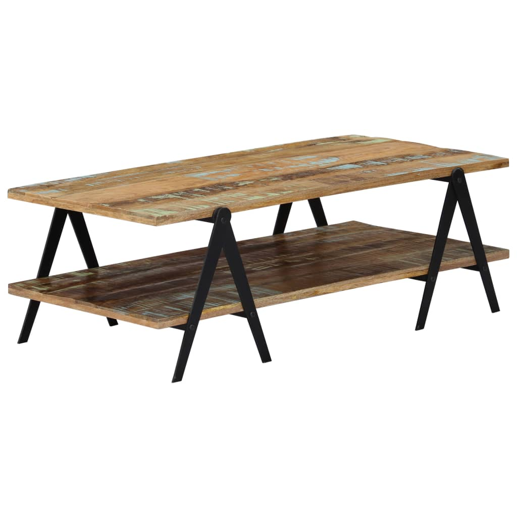 VidaXL Coffee Table 115x60x40 Cm Solid Reclaimed Wood