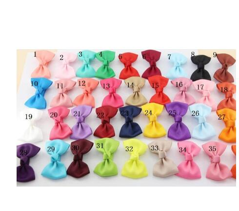 35 COLORS Newborn Children Sweet 2.75INCH Mini Grosgrain Ribbon Bow With Clips Hair Barrette Clips Kids Bowknots