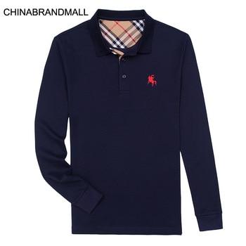 Men Plus Fat Plus Size Lapel Long Sleeve T Shirt Male Fat Man Long Sleeve Top Backing Shirt