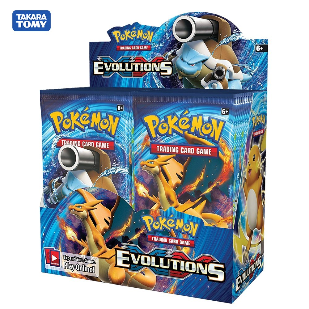 324pcs Game Cards Pokemon XY  TCG: Evolutions Sealed Booster Box Trading Card Game Toys For Childrens