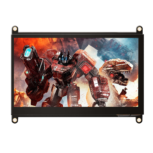 UPERFECT 7 Inch Portable Monitor Multi-functional Display Support HDMI Dual Speaker US / UK / EU Plug Optional for Raspberry Pi