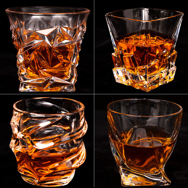300-340ml Whiskey Drinking Glass Crystal Drinking Glasses Cups Martini Wine Beer Glass Cup Transparent For Bar Hotel Glassware