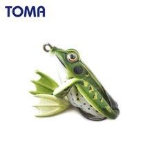 Señuelo de pesca de rana suave, aparejo de pesca con cebo de lubina Artificial suave, 3 unids/lote, de silicona, 5cm, 11g, 6,5 cm, 22g
