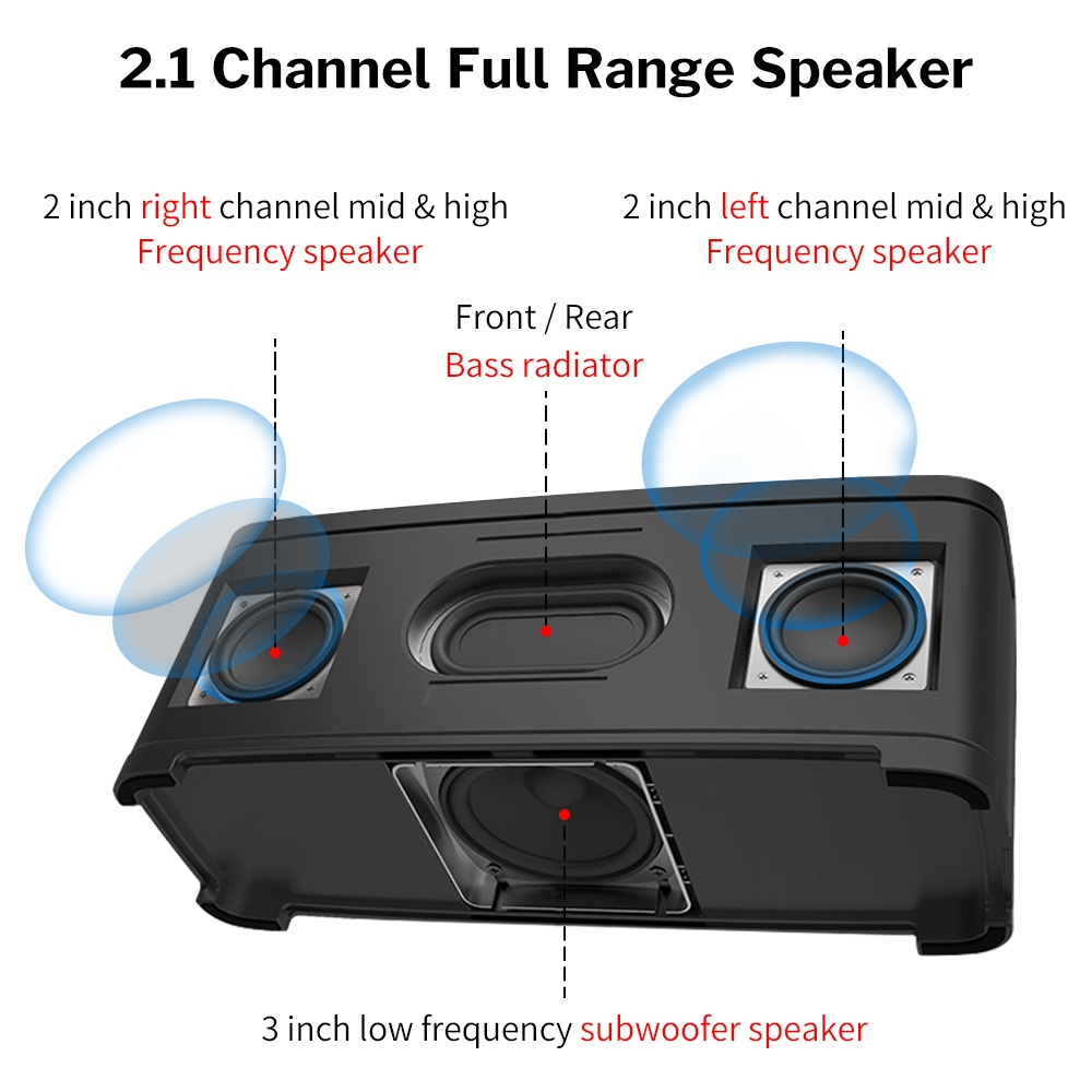 Image 2 - Bass Powerful Bluetooth Speaker Home Wireless Stereo Sound System 2.1 Channel Column with Subwoofer for Computer Laptop PC-in Subwoofer from Consumer Electronics