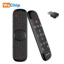Wechip W2 Pro Air Mouse Microphone à télécommande vocale 2.4G sans fil Mini clavier Gyroscope pour Smart Android TV Box Mini PC